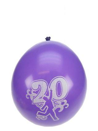 Leeftijdballon 20 jaar per 8 32cm/11inch 1