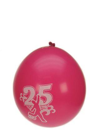Leeftijdballon 25 jaar per 8 32cm/11inch 1