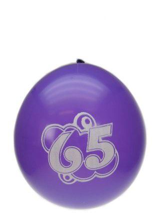 Leeftijdballon 65 jaar per 8 32cm/11inch 1