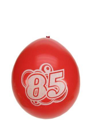 Leeftijdballon 85 jaar per 8 32cm/11inch 1