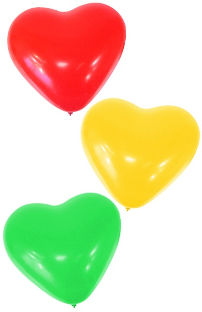 Themaballon hartjes rood/geel/groen 1