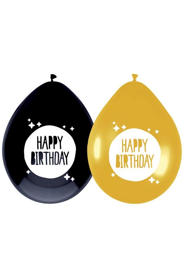 Ballonnen HAPPY BIRTHDAY 6 stuks 1
