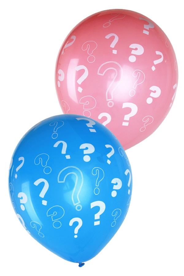 Ballonnen 12 inch per 8 Gender reveal roze + blauw ???? 1