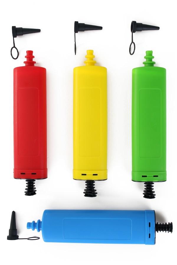 Luxe ballonpomp rood/3 geel/3 groen/3 blauw/3 1