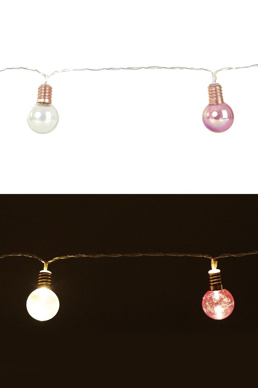 Verlichtingssnoer 160 cm voorzien van 10 lampen van 3 cm ø exclusief 2 x AA batterij 1