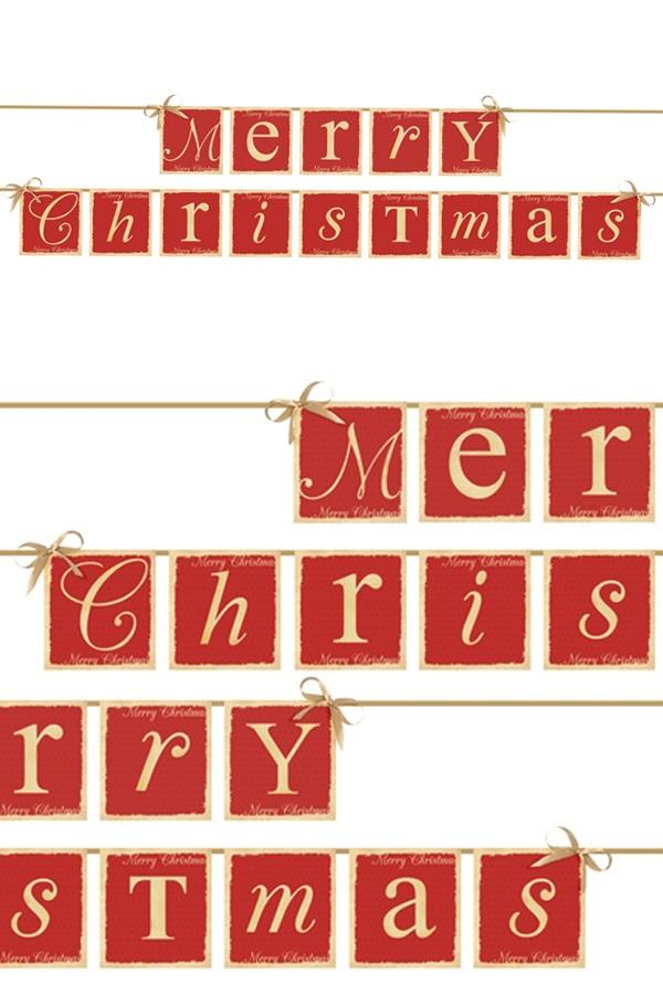 Vlaggenlijn Merry Christmas 14,5 x 220 cm