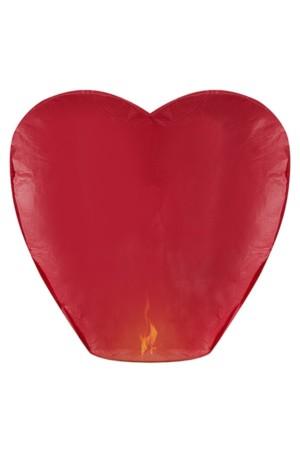 Wensballon hart rood 37x93x95 cm.