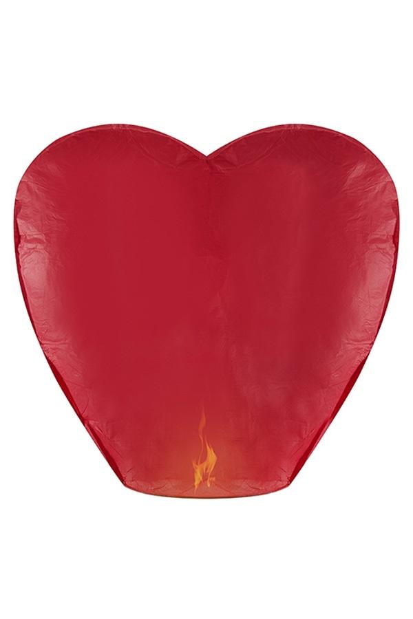 Wensballon hart rood 37x93x95 cm