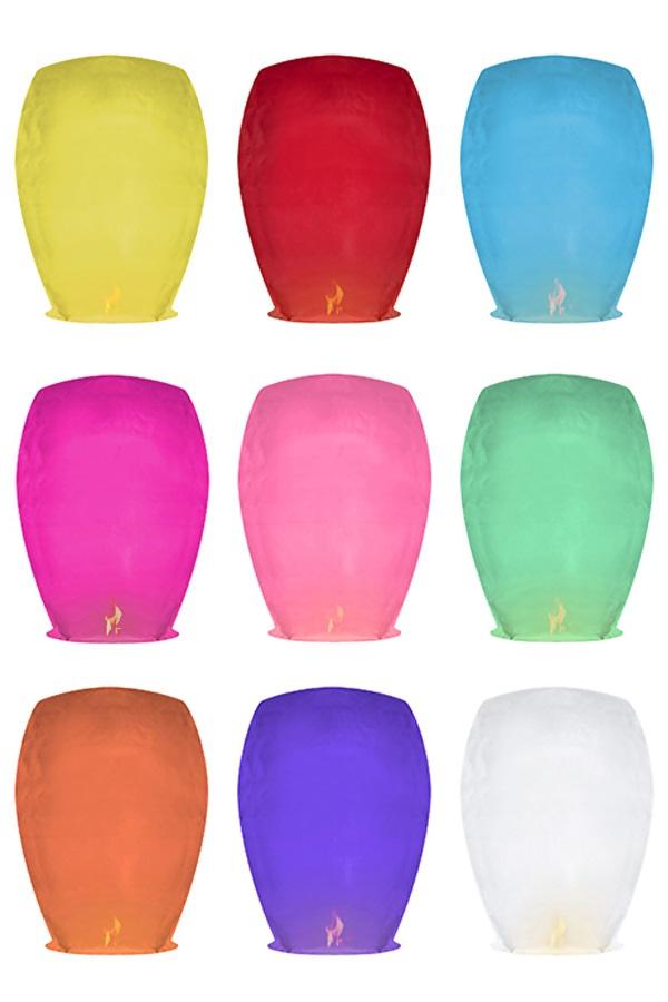 Wensballon assorti kleuren 33 x 48 x 86 cm