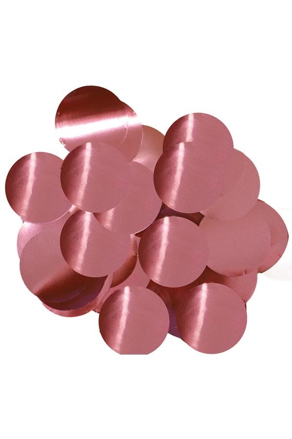 Confetti roze 14 gram metaalfolie 1