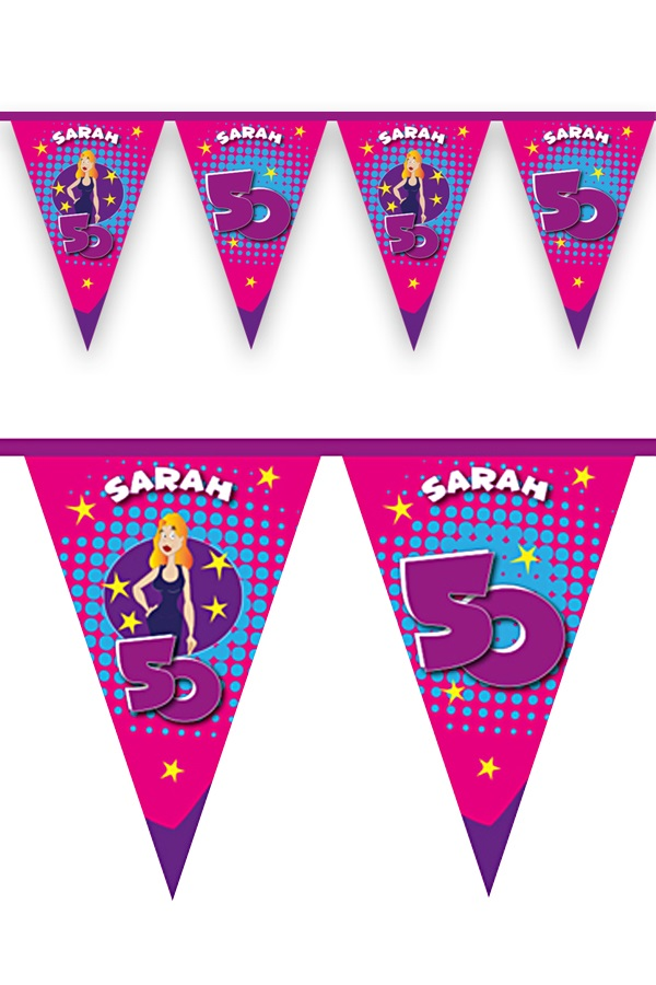 Vlaggenlijn Sarah 6 mtr 1