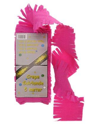 Crepe guirlande pink 5 mtr