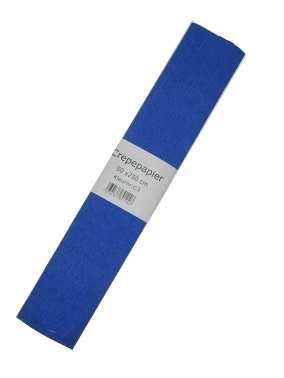 Crepe papier blauw 250 x 50 cm