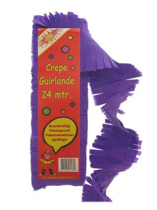 Crepe guirlande brandveilig paars 24 mtr