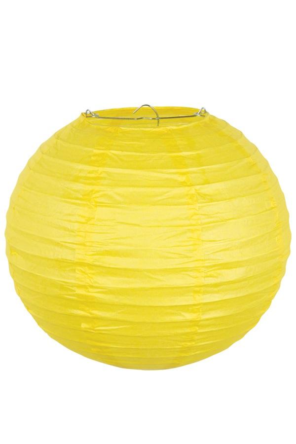 Lampion geel 25 cm