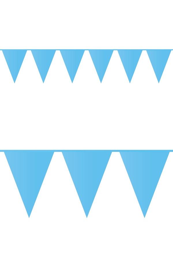 Vlaggenlijn pe licht blauw 10m 1