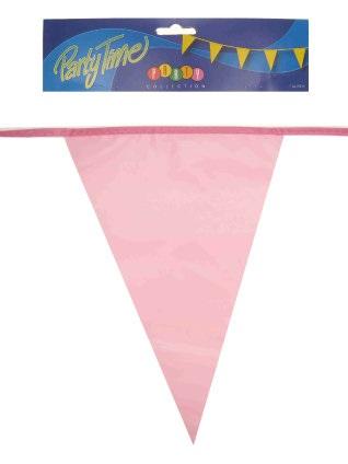 Vlaggenlijn pe roze 10m 1