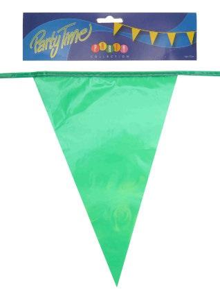 Vlaggenlijn pe groen 10m 1