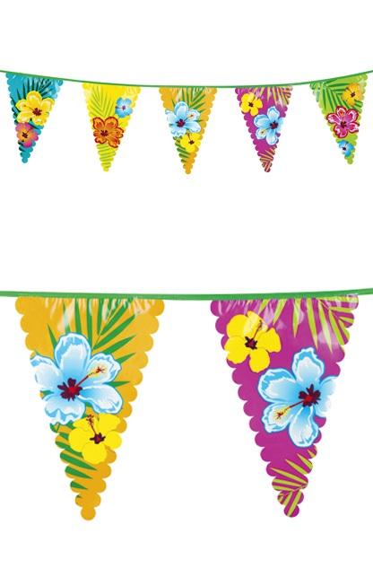 Reuzenvlaggenlijn 6 mtr Hibiscus 45×30 cm 2 zijdig 1