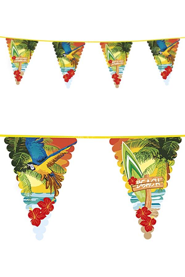 Reuzenvlaggenlijn 6 mtr Beach 10 vlaggen 45×30 cm  1