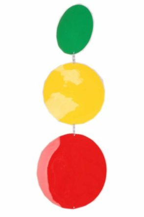 Mobiel rood/geel/groen confettisnippers 1