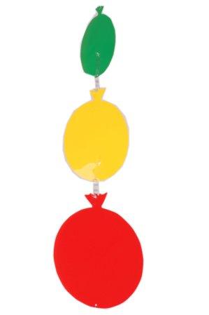 Mobiel rood/geel/groen ballonnen 1