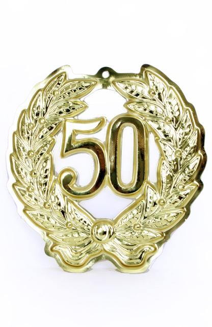 Jubileumkrans 50 jaar plastic 24 cm