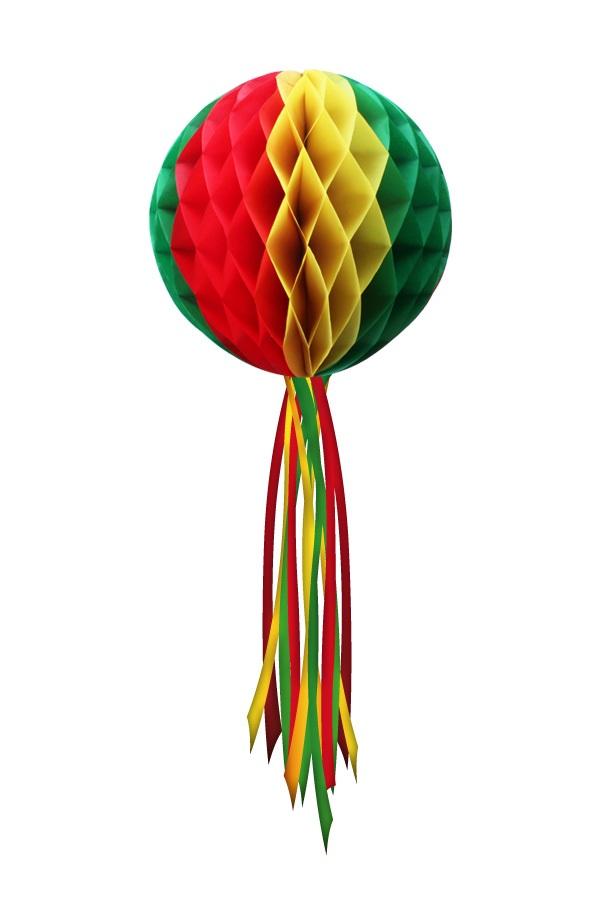 Decoratie Bol rood/geel/groen ø 50 cm Moeilijk brandbaar 1
