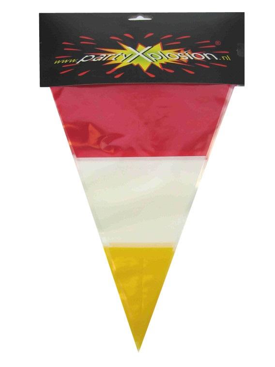 Vlaggenlijn rood/wit/geel 10m 1