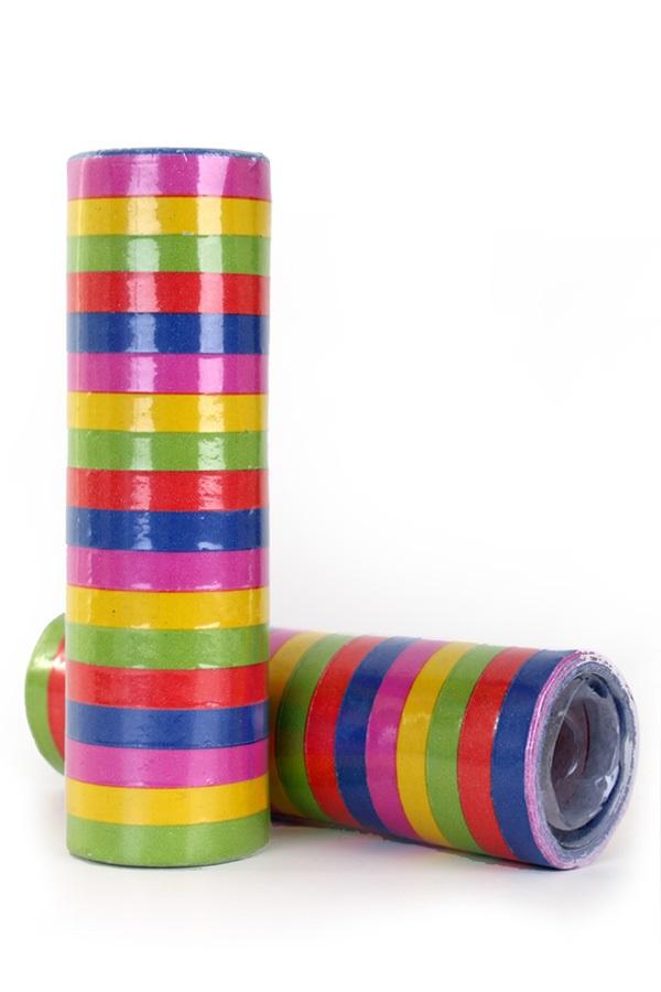 Serpentine rollen bonte kleuren, per 400 (losse) rollen 1