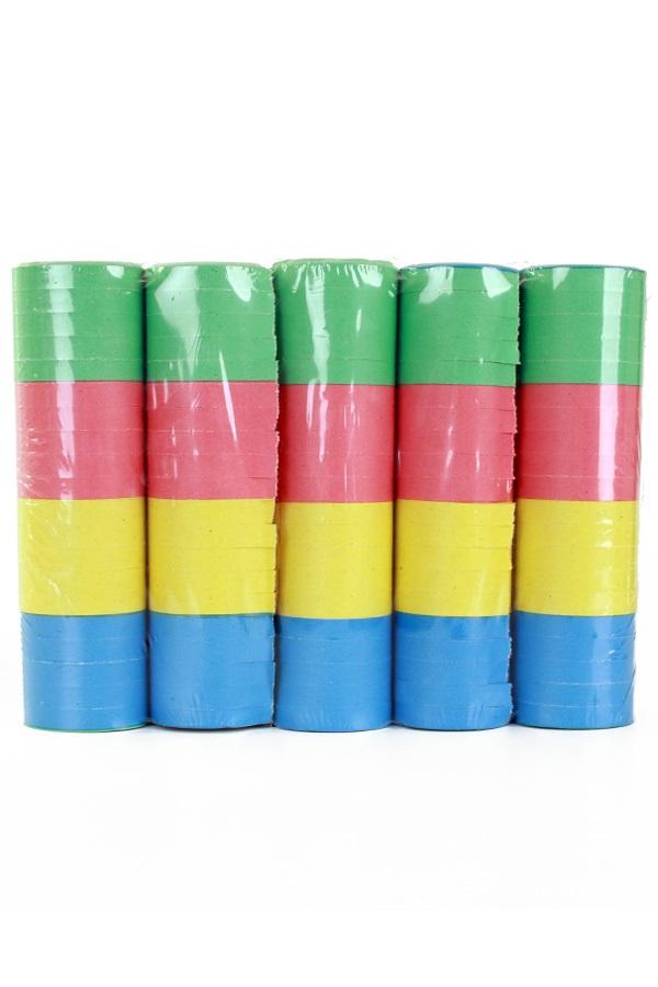 Serpentine rollen bonte kleuren, per 100 rollen (20 krimpen) 1