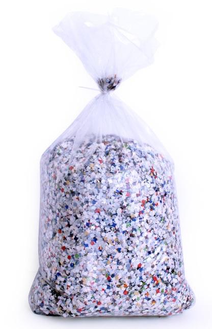 Confetti kantig bont 5 kg  B-kwaliteit 1