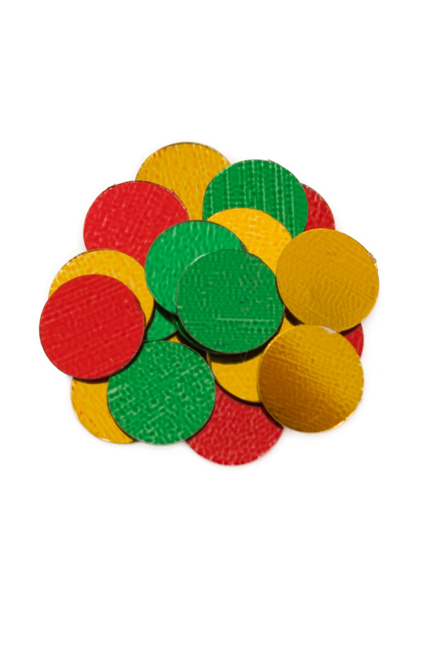 Confetti metallic 100 gram rood/geel/groen 1