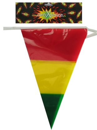 Vlaggenlijn rood/geel/groen in 1 vlag 10m 1