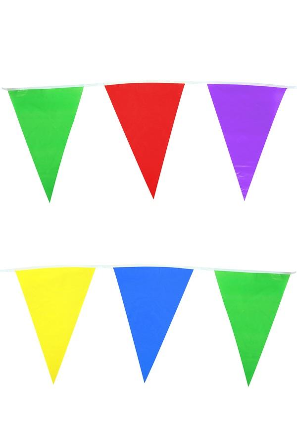 Vlaggenlijn assortie kleuren 10m  1