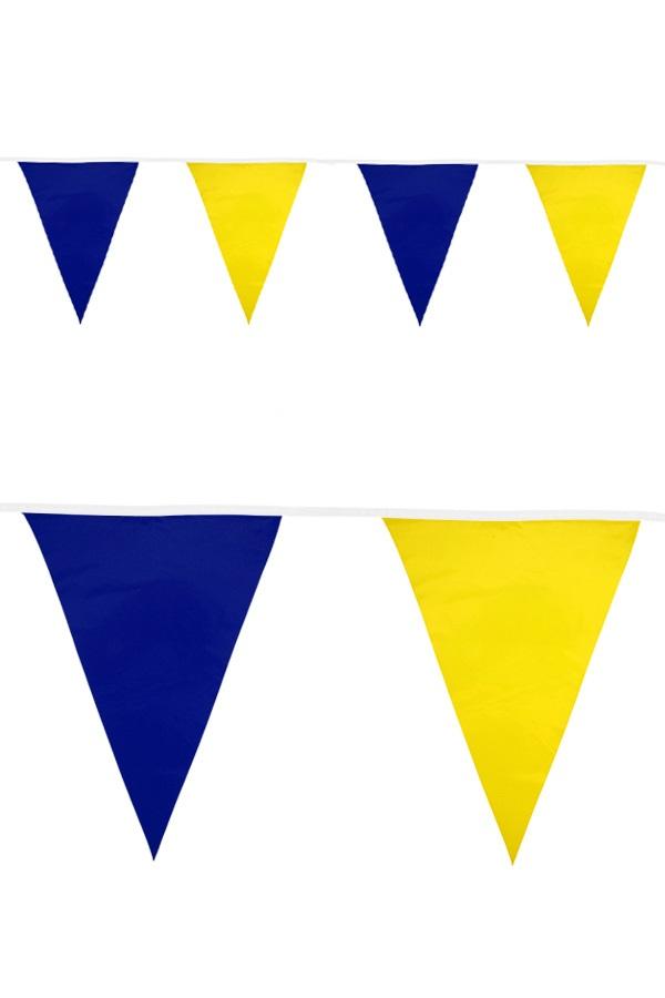 Vlaggenlijn pe blauw/geel 20 vlag 10 meter 1