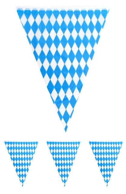 Vlaggenlijn Oktoberfest blauw/wit 10 mtr 1