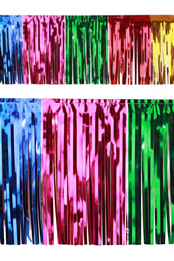 PVC slierten folie guirlande multicolour 6 meter x 30 cm 1