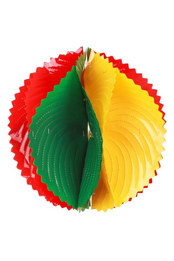 PVC decoratie bal rood/geel/groen 30 cm