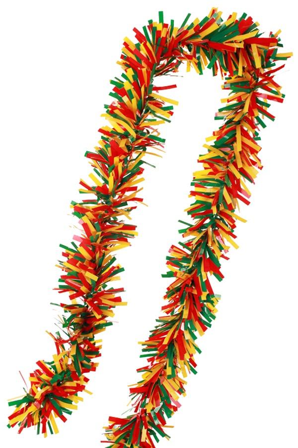 PVC folie draai guirlande rood/geel/groen 5 meter BRANDVEILIG 1