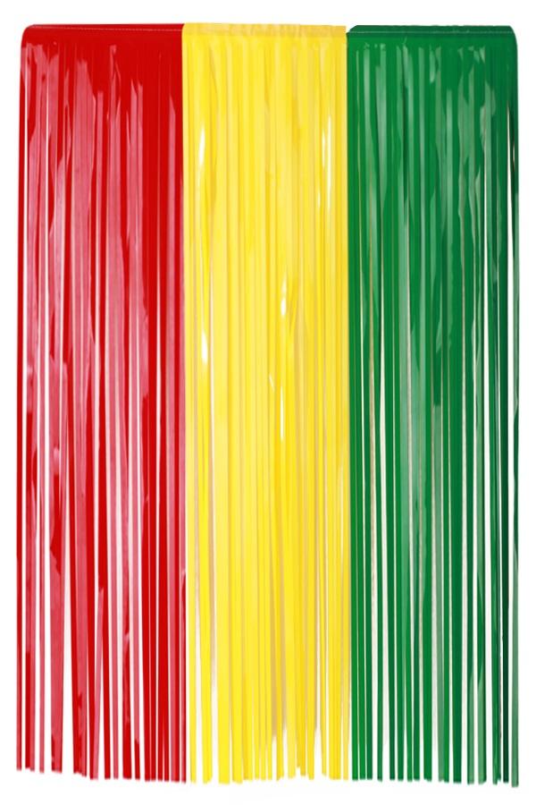 PVC Deurgordijn rood/geel/groen 100 x 180 cm
