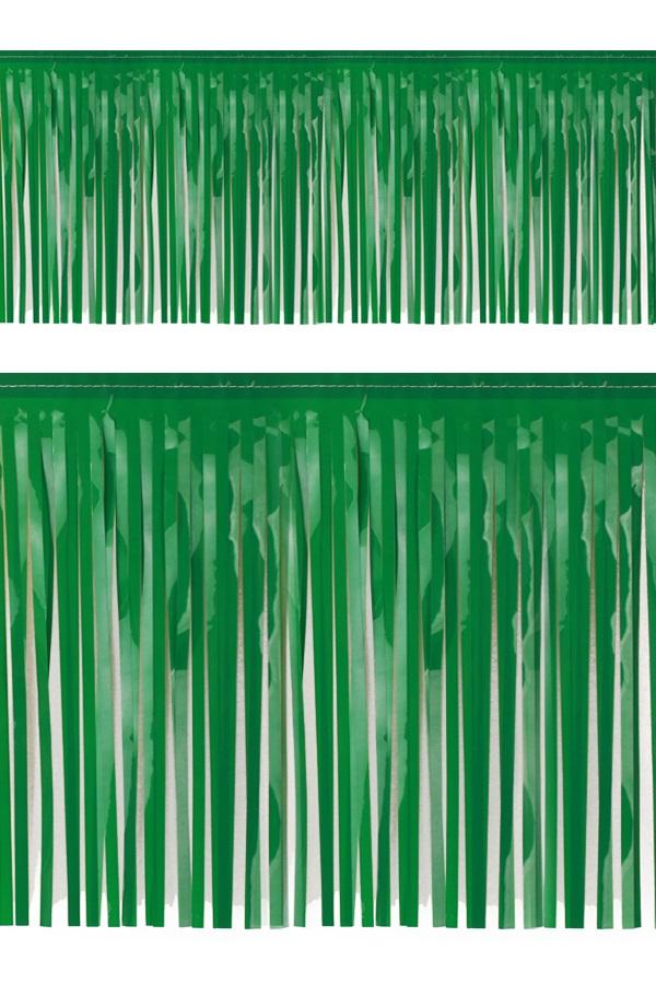 PVC slierten folie guirlande groen 6 meter x 30 cm BRANDVEILIG 1