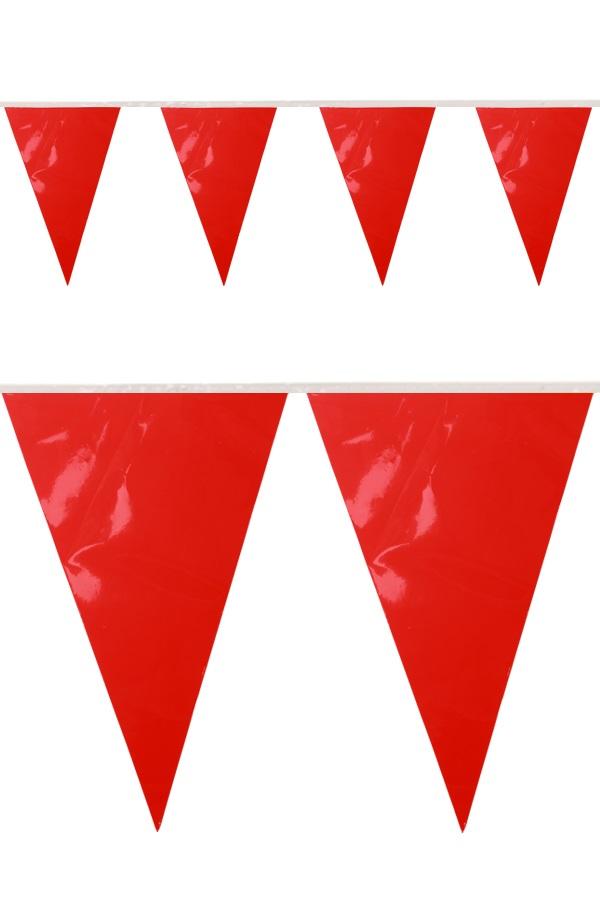 PVC vlaggenlijn rood 10 meter BRANDVEILIG 1