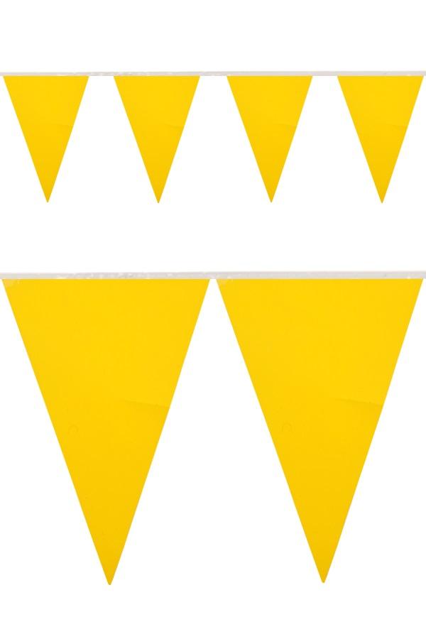 PVC vlaggenlijn geel 10 meter BRANDVEILIG 1