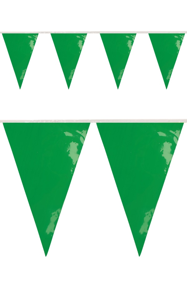PVC vlaggenlijn groen 10 meter BRANDVEILIG 1