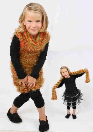 Sjaal metallic rood/geel/groen 100 x 10 cm