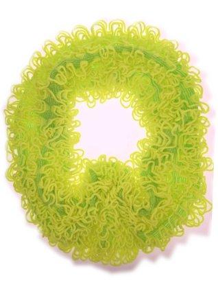 Sjaal met franjes fluor geel 160 x 20 cm