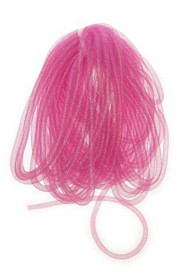 Decoratie tube pink Ø10 mm per 2,5 meter in zakje 1