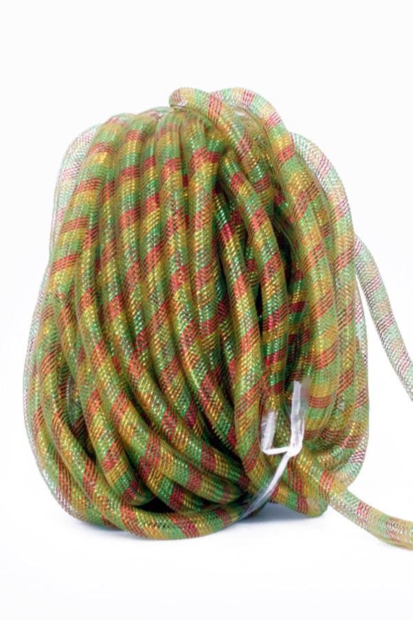 Decoratie tube rood/geel/groen Ø16 mm per 2,5 meter in zakje 1