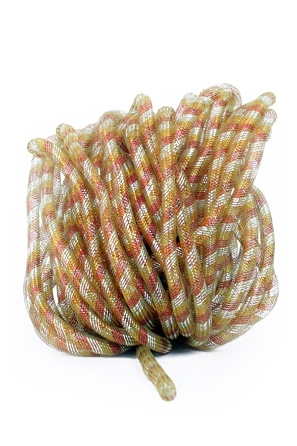 Decoratie tube rood/wit/geel Ø16 mm per 2,5 meter in zakje 1